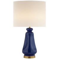 Kapila Table Lamp in Blue Celadon with Linen Shade