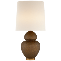 Michelena Table Lamp in Chalk Burnt Gold with Linen Shade