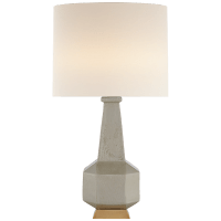 Babette Table Lamp in Shellish Grey with Linen Shade