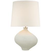 Celia Large Left Table Lamp in Marion White with Linen Shade