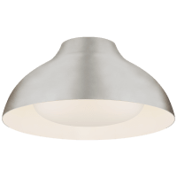 """Agnes 15"""" Flush Mount in Burnished Silver Leaf with Soft White Glass"""
