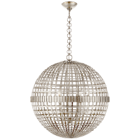Mill Large Globe Lantern in Burnished Silver Leaf