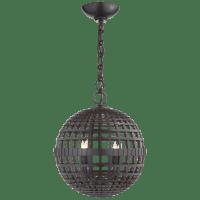 Mill Small Globe Lantern in Aged Iron