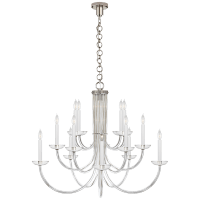 Wharton Chandelier in Clear Acrylic and Polished Nickel