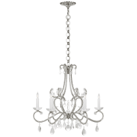 Montmartre Medium Chandelier in Polished Nickel with Crystal