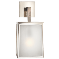 Ojai Large Sconce in Polished Nickel with Frosted Glass