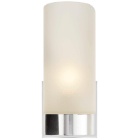 Urbane Sconce in Soft Silver with Frosted Glass