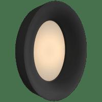 Halo Medium Oval Sconce in Matte Black