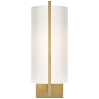Framework Sconce in Soft Brass with Silk Shade