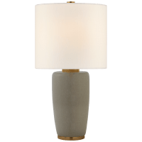 Chado Large Table Lamp in Shellish Gray with Linen Shade