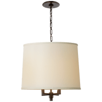 Westport Large Hanging Shade in Bronze with Linen Shade
