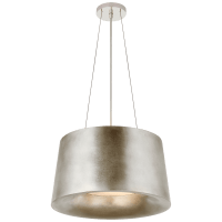 Halo Small Hanging Shade in Burnished Silver Leaf