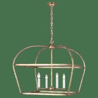 Stonington Wide Lantern Antique Gild