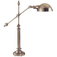 Pimlico Table Lamp in Antique Nickel with Antique Nickel Shade
