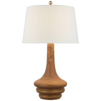 Wallis Large Table Lamp in Yellow Oxide with Linen Shade