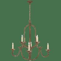Flemish Medium Round Chandelier in Gilded Iron