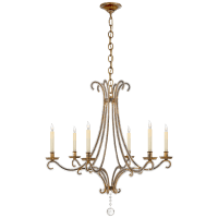 Oslo Medium Chandelier in Gilded Iron with Crystal