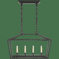 Darlana Small Linear Lantern in Aged Iron