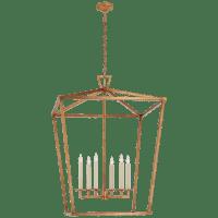 Darlana XXL Lantern in Gilded Iron