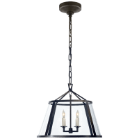 "Darlana 16"" Pendant in Aged Iron with Clear Glass"