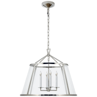 """Darlana 24"""" Pendant in Polished Nickel with Clear Glass"""