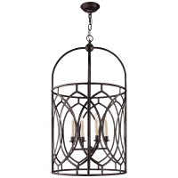 Marquise Tall Lantern in Aged Iron