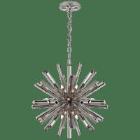 Lawrence Small Sputnik Chandelier in Polished Nickel