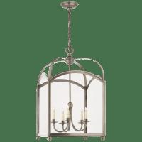 Arch Top Large Lantern in Antique Nickel