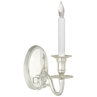 Grosvenor House Single Sconce in Polished Silver