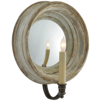Chelsea Medium Reflection Sconce in Old White