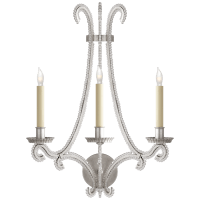 Oslo Large Sconce in Burnished Silver Leaf with Clear Glass