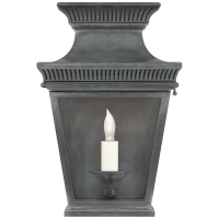Elsinore Small 3/4 Wall Lantern in Weathered Zinc with Clear Glass