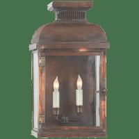 Suffork Wide Short 3/4 Lantern in Natural Copper