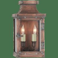 Bedford Small 3/4 Lantern in Natural Copper