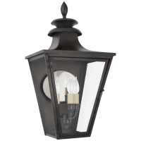 Albermarle Small 3/4 Wall Lantern in Blackened Copper with Clear Glass