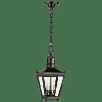 Sussex Small Hanging Lantern in Bronze