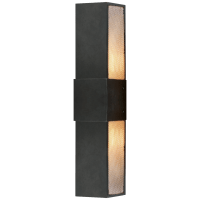 """Bowery 18"""" Wall Sconce in Aged Iron with Mesh Diffuser"""