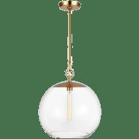 Atlantic Round Pendant Burnished Brass