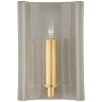 Leeds Small Rectangle Sconce in Shellish Gray