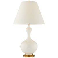 Addison Large Table Lamp in Ivory with Natural Percale Shade