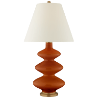 Smith Medium Table Lamp in Cinnabar with Natural Percale Shade