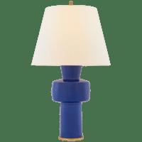 Eerdmans Medium Table Lamp in Flowing Blue with Linen Shade