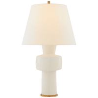 Eerdmans Medium Table Lamp in Ivory with Linen Shade
