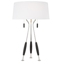 Arbur Table Lamp Polished Nickel Bulbs Inc