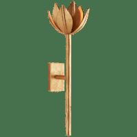 Alberto Medium Sconce in Antique Gold Leaf