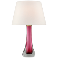 Christa Large Table Lamp in Cerise with Linen Shade