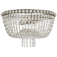 Navona Large Basket Flush Mount in Burnished Silver Leaf and Crystal