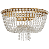 Navona Large Basket Flush Mount in Gild and Crystal