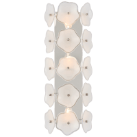 """Leighton 20"""" Sconce in Polished Nickel with Cream Tinted Glass"""