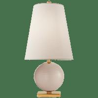 Corbin Mini Accent Lamp in Blush with Linen Shade